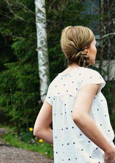 Fabric Nosh Organics. Pattern Selma / Mekkotehdas aikuisille