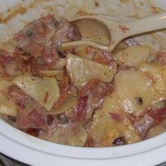 Crockpot Scalloped Potatoes and Ham