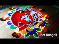 Pongal kolam easy and beautiful rangoli.