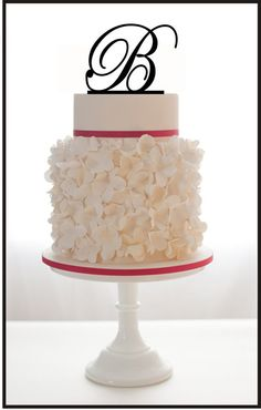 Custom Wedding Cake Topper with Personalized Initial door Mclaserpro