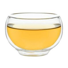 DOUBLE-WALLED GLASS TEA CUP  Add style to your infusion and ensure your fingers never get burnt with this stunning double-walled glass cup.