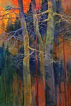 Twilight Dance, 14031 by Carol Nelson Acrylic ~ 36 x 24