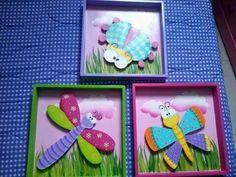 Cuadros bichos Arte Country, Pallet Signs, Minions, Nursery Decor, Paper Art, Folk, Diy Crafts, Frame, Home Decor