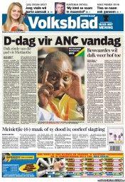 Volksblad 18-12-2012 South Africa