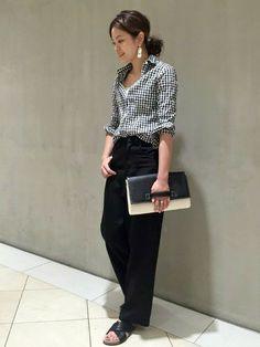 Japan Fashion, Work Fashion, Fashion Pants, Daily Fashion, Fashion Outfits, Womens Fashion, Looks Style, My Style, Wide Pants