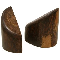 Pair of Don Shoemaker Bookends in Cocobolo Wood, Mexico, circa 1960s   From a unique collection of antique and modern bookends at https://www.1stdibs.com/furniture/more-furniture-collectibles/bookends/