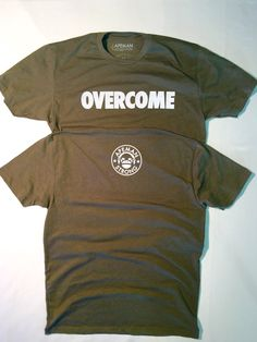 OVERCOME - APEMAN STRONG Gym Gear, Workout Gear, Tees, Shirts, Strong, Fitness Clothing, Mens Tops, Clothes, Outfits