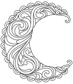 Ideas For Embroidery Designs By Hand Urban Threads Coloring Pages Embroidery Works, Hand Embroidery Designs, Embroidery Patterns, Paper Embroidery, 3d Templates, Moon Mandala, Urban Threads, Quilling Patterns, Celtic Designs