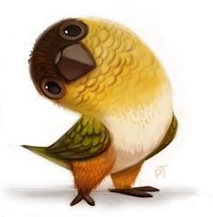 Daily Painting Macaw by Cryptid-Creations on DeviantArt Bird Drawings, Animal Drawings, Cute Drawings, Lapin Art, Character Art, Character Design, Bird Illustration, Cartoon Illustrations, Cartoon Art