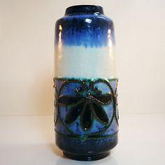 German Pottery Vase • Fat Lava • Strehla