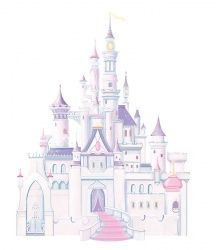 Popular RoomMates Wandsticker XXL Wandtattoo Disney Princess Glitter Schloss