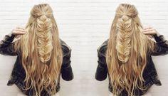Half-up Fishtail Braid Hair Tutorial