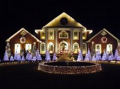 House Decorated For Christmas house christmas lights | light outside ideas some images include