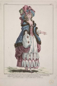 La brillante Raimonde, après le diner, fait un tour de promenade dans le Jardin du Luxembourg, persuadée qu elle ne manquera pas d'y rencoutrer celui qui est l'esclave de sa beauté depuis peu: elle est coëffée d'un chapeau à la Figaro avec une pelisse doublée de martre et un tablier de gaze garni à la Panurge.