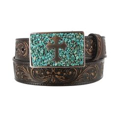 Nocona Belt Co. Women's Cross Belt and Buckle Set