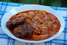 Ezt fald fel!: Paradicsomos káposzta Hungarian Cuisine, Hungarian Recipes, Hungarian Food, Pot Roast, Food Porn, Food And Drink, Pork, Beef, Paleo