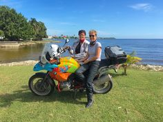 "Mrs MBW and Kathy in paradise! Our Ferris Wheels Motorcycle Safaris Tacos 'n' Tequila tour has run through the very Caribbean-Feeling Belize. Check out all the pix at https://www.pinterest.com/MotorbikeWriter/ferris-wheels-motorcycle-safaris-tacos-n-tequila-t/ or go to motorbikewriter.com and search for ""Mexico"", ""Guatemala"" or Belize."