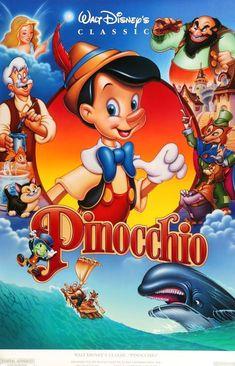 Pinocchio Vintage The Walt Disney Company Original Poster Framed USA 82079 Walt Disney Pictures, Walt Disney Movies, Disney Movie Posters, Disney Art, Disney Pixar, Disneyland Movies, Disney Mural, Disney Ideas, Disney Characters