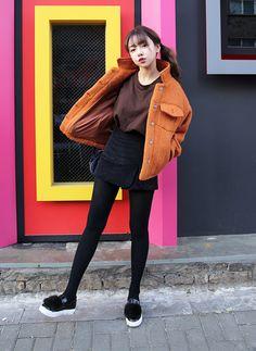 Woolen Spread Collar Jacket