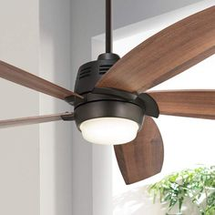 "56"" Casa Ecanto Oil-Rubbed Bronze LED Ceiling Fan - #4F229 