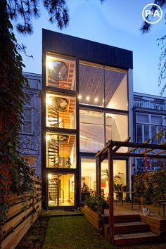 Cool Netherlands house with four-story spiral staircase