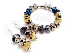 Modular jewelry set: bracelet and earrings Pandora Charms, Handmade Jewelry, Pendants, Bracelets, Earrings, Ear Rings, Stud Earrings, Handmade Jewellery, Hang Tags