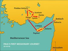Paul's first missionary journey. Paul and Barnabas visit Lystra and Derbe. (Acts 14:8-28): Slide 8