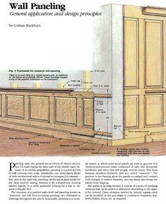 #1697 Wood Wall Paneling - Wainscoting and Paneling