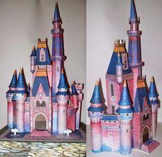 Castelo Cinderela Princesa - Projeto Completo - Corte Manual