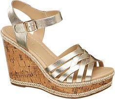Keil Sandalette von 5th Avenue in gold - deichmann.com