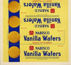 Nabisco - Vanilla Wafers small - paper box wrap - by JasonLiebig… Vintage Packaging, Vintage Labels, Miniature Food, Miniature Dolls, Minis, Barbie Food, Halloween Items, Barbie Accessories, Food Labels