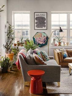 colorful, bohemian-eclectic living room ideas