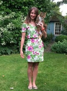Jude's Bettine dress with added cat!