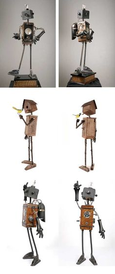papertastebuds » Blog Archive » mike rivamonte : robot sculptures