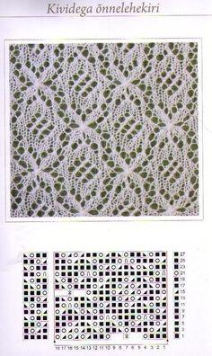 Haapsalu sall - вязанная реликвия эстонские шали Lace Knitting Stitches, Knitting Paterns, Knitting Charts, Knitting Designs, Hand Knitting, Filet Crochet, Crochet Motif, Knit Crochet, Lace Patterns