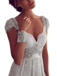 YunMan 2016 Cap Sleeves V Neck Lace Wedding Dresses for Bride Beading YMD019. Pls refer to OUR size chart displayed next to the main item images. Confirmation email will be send to you within 24 hours after you succeed to place the order ,pls keep in touch with us .Thank you . Color varys from different computer screens.Before you place the order ,pls think about it whether you can accpet this difference . Custom Size Service available for dresses ships from and sold by YunMan. Search...