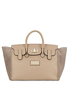 Valentino By Mario Omia Leather & Suede Taupe Satchel. Save 41% on the Valentino By Mario Omia Leather & Suede Taupe Satchel! This satchel is a top 10 member favorite on Tradesy. See how much you can save