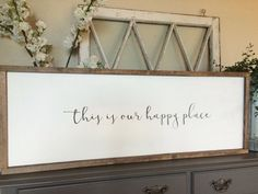 This Is Our Happy Place Wood Sign by JoJoRaeHome on Etsy