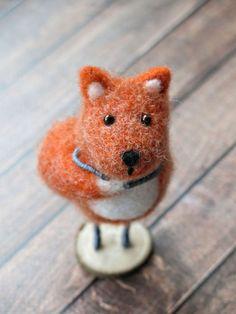 Игрушки животные, ручной работы. Ярмарка Мастеров - ручная работа. Купить Лиса-стесняка (сувенирная игрушка из шерсти). Handmade. Лиса