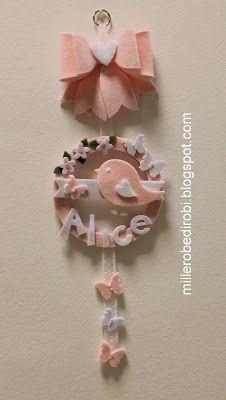 Robe di Robi: La nascita di Alice: fiocco nascita e torta di pan...