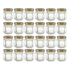 Cornucopia Brands Mini Hexagon Glass Jars - BestProducts.com