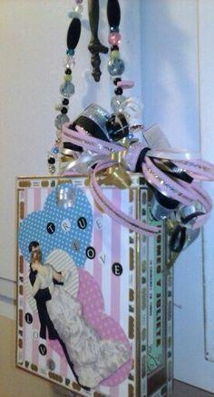 Valentine Dance Cigar box purse. 2014 by Cyndi Greer
