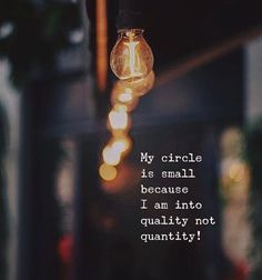 My circle is small..