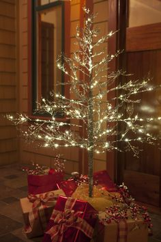 "Add simple Christmas decor to your porch for a big ""wow"" factor!"