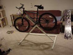PVC bike repair stand.