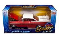 1959 Chevrolet Impala Red & White Lowrider 1/24 Diecast Car Model By Jada 98922