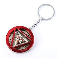 J Store Iron Man Themed Keychain Movie for The Avengers Ironman Power Reactor Key Chain Fashion Handbag Accessories #Affiliate
