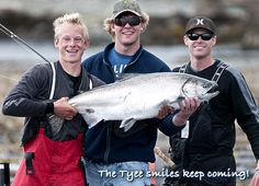 The Tyee smiles keep coming! Another whopper Tyee salmon taken in Naden Harbour.