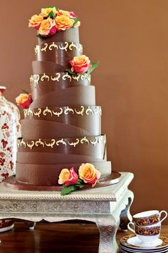 I'm dreaming of a chocolate wedding cake ... Wedding Inspirations magazine Autumn 2011 issue (April 2011)