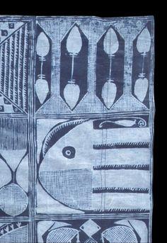 Africa   Close up of 'Ibadandun'; adire eleko cloth from the Yoruba people of Nigeria   Image ©Duncan Clarke; Adire African Textiles